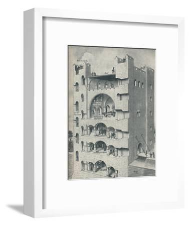 'Inside the Donjon of a Norman Castle', c1934-Unknown-Framed Giclee Print