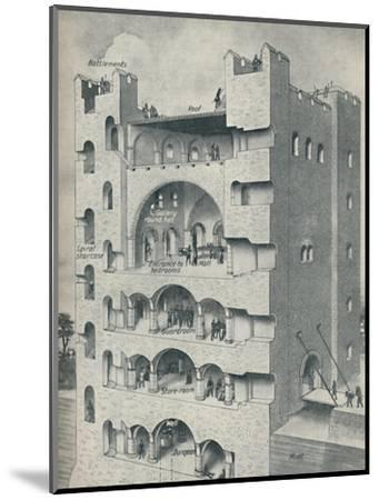 'Inside the Donjon of a Norman Castle', c1934-Unknown-Mounted Giclee Print