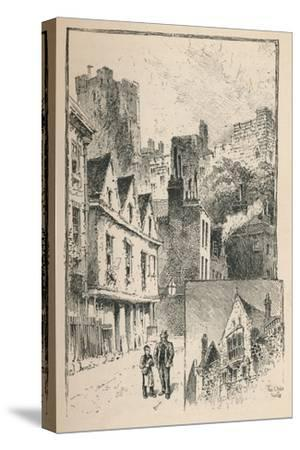 'The Castle from Thames Street. A Bit of the Outer Walls', 1895-Unknown-Stretched Canvas Print