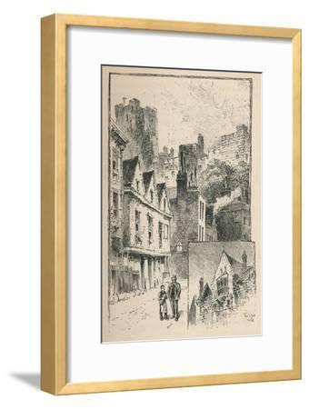 'The Castle from Thames Street. A Bit of the Outer Walls', 1895-Unknown-Framed Giclee Print