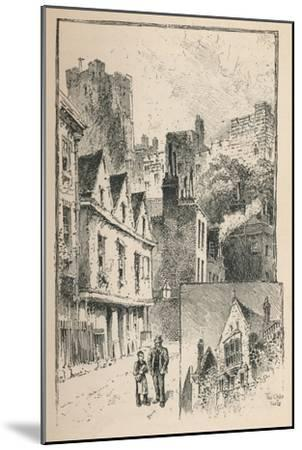 'The Castle from Thames Street. A Bit of the Outer Walls', 1895-Unknown-Mounted Giclee Print