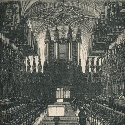 'St. George's Chapel: The Choir, Looking West', 1895-Unknown-Framed Giclee Print