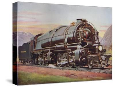 'A 300-Ton American Mallet Type Freight Engine. Pennsylvania Railroad', 1926-Unknown-Stretched Canvas Print