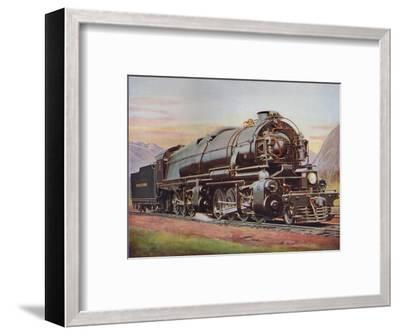 'A 300-Ton American Mallet Type Freight Engine. Pennsylvania Railroad', 1926-Unknown-Framed Giclee Print