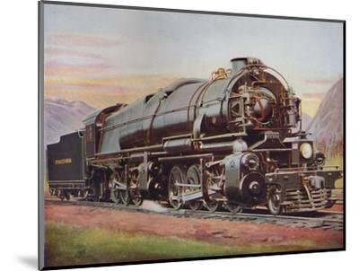 'A 300-Ton American Mallet Type Freight Engine. Pennsylvania Railroad', 1926-Unknown-Mounted Giclee Print