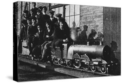 'Testing A Miniature Atlantic Engine at Northampton', 1926-Unknown-Stretched Canvas Print