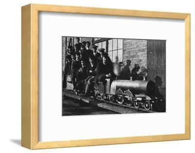 'Testing A Miniature Atlantic Engine at Northampton', 1926-Unknown-Framed Photographic Print