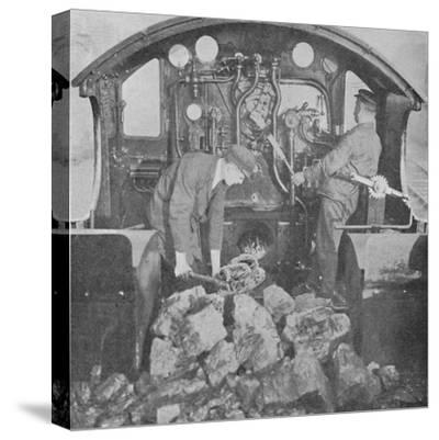'On the Footplate of a Great Western Express Engine', 1926-Unknown-Stretched Canvas Print