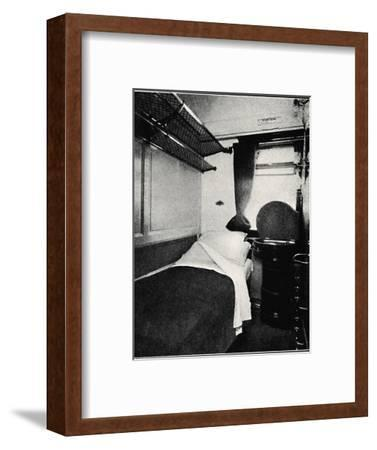 'A Sleeping Berth on the Night Scotsman, London & North Eastern Railway', 1926-Unknown-Framed Photographic Print