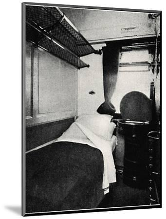 'A Sleeping Berth on the Night Scotsman, London & North Eastern Railway', 1926-Unknown-Mounted Photographic Print