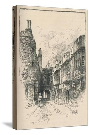 'Northern Gate and Library, from King John's Tower', 1895-Unknown-Stretched Canvas Print