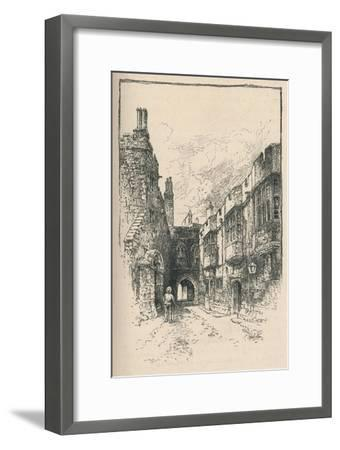 'Northern Gate and Library, from King John's Tower', 1895-Unknown-Framed Giclee Print