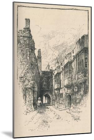 'Northern Gate and Library, from King John's Tower', 1895-Unknown-Mounted Giclee Print