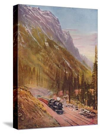 'Connaught Tunnel, in the Selkirk Mountains. Canadian Pacific Railway', 1926-Unknown-Stretched Canvas Print