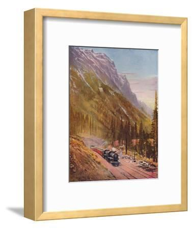 'Connaught Tunnel, in the Selkirk Mountains. Canadian Pacific Railway', 1926-Unknown-Framed Giclee Print