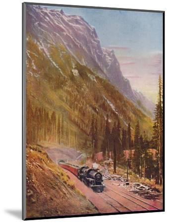 'Connaught Tunnel, in the Selkirk Mountains. Canadian Pacific Railway', 1926-Unknown-Mounted Giclee Print