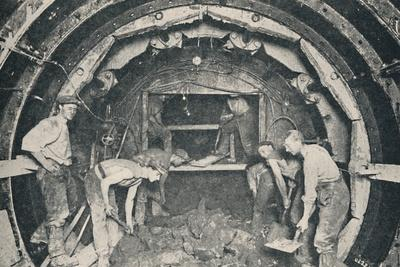 Inside a Greathead Tunnelling Shield', 1926-Unknown-Framed Photographic Print