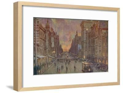 'A Street in Melbourne', 1924-Unknown-Framed Giclee Print
