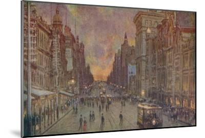 'A Street in Melbourne', 1924-Unknown-Mounted Giclee Print
