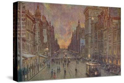 'A Street in Melbourne', 1924-Unknown-Stretched Canvas Print