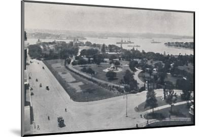 'Sydney Harbour, New South Wales', 1924-Unknown-Mounted Photographic Print