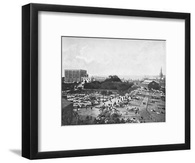'Norwich Castle, Cattle Market and Cathedral', c1896-William Lewis Shrubsole-Framed Photographic Print