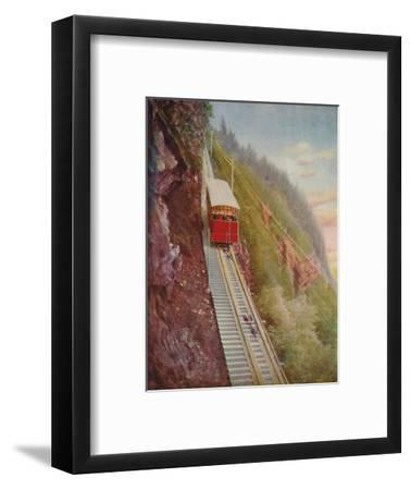 'Descending the Stanserhorn - A Swiss Mountain Railway', 1926-Unknown-Framed Giclee Print