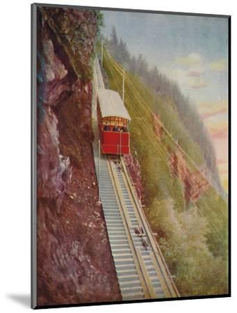'Descending the Stanserhorn - A Swiss Mountain Railway', 1926-Unknown-Mounted Giclee Print
