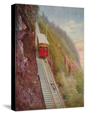 'Descending the Stanserhorn - A Swiss Mountain Railway', 1926-Unknown-Stretched Canvas Print