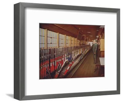 'Inside the Locomotive Yard Signal-Box, York', 1926-Unknown-Framed Giclee Print