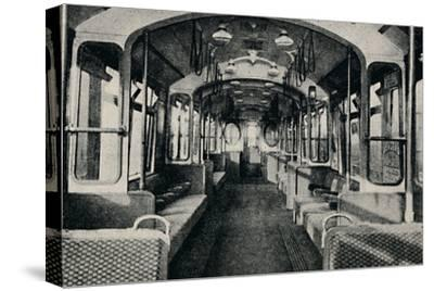 'Interior of the Latest Type of Tube Coach', 1926-Unknown-Stretched Canvas Print