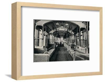 'Interior of the Latest Type of Tube Coach', 1926-Unknown-Framed Photographic Print