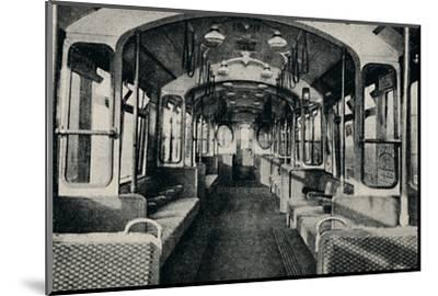 'Interior of the Latest Type of Tube Coach', 1926-Unknown-Mounted Photographic Print
