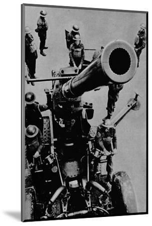 On target! - A 3.7 inch gun detachment at battle practice, 1943-Unknown-Mounted Photographic Print