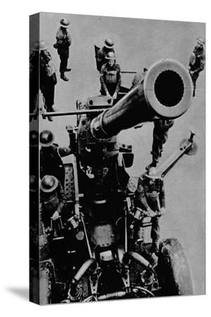 On target! - A 3.7 inch gun detachment at battle practice, 1943-Unknown-Stretched Canvas Print