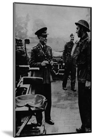 General Sir Frederick Pile, Commander-in-Chief, Anti-Aircraft Command, 1943-Unknown-Mounted Photographic Print