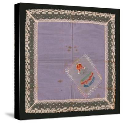 Embroidered Lace Handkerchief-Unknown-Stretched Canvas Print