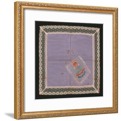 Embroidered Lace Handkerchief-Unknown-Framed Giclee Print
