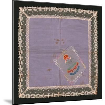 Embroidered Lace Handkerchief-Unknown-Mounted Giclee Print