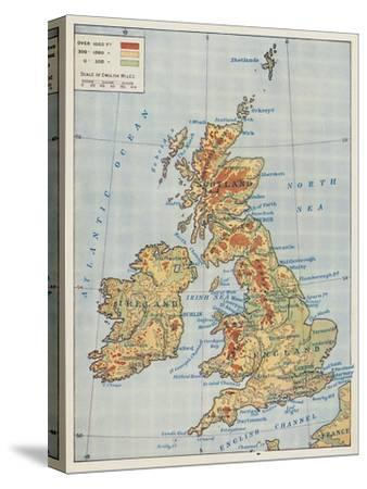 'Map of the British Isles', 1910-Unknown-Stretched Canvas Print