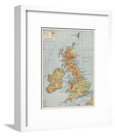'Map of the British Isles', 1910-Unknown-Framed Giclee Print