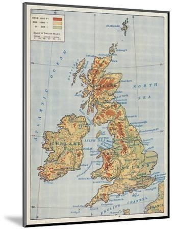 'Map of the British Isles', 1910-Unknown-Mounted Giclee Print