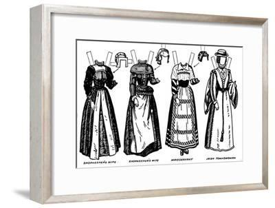 'The Gallery of British Costume: Dress Worn in the Late Sixteenth Century', c1934-Unknown-Framed Giclee Print