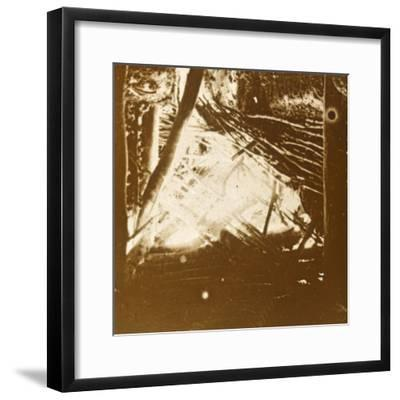Hit from a 75 automatic anti-aircraft gun, c1914-c1918-Unknown-Framed Photographic Print