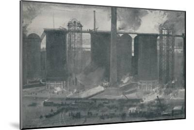 'Blast-Furnaces at Bell Bros.' Iron Works, Middlesborough', 1910-Unknown-Mounted Giclee Print
