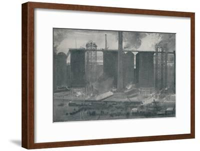 'Blast-Furnaces at Bell Bros.' Iron Works, Middlesborough', 1910-Unknown-Framed Giclee Print