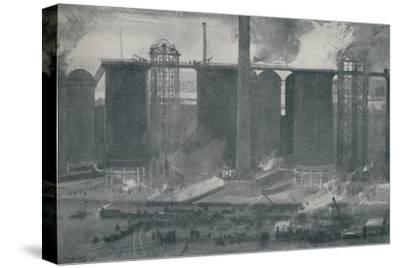 'Blast-Furnaces at Bell Bros.' Iron Works, Middlesborough', 1910-Unknown-Stretched Canvas Print