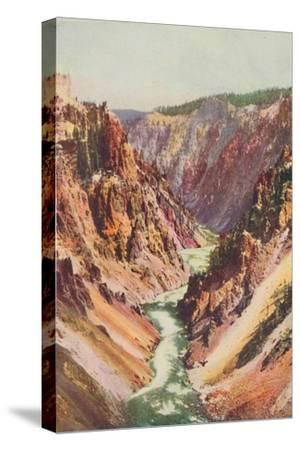 'The Yellowstone River', 1916-Unknown-Stretched Canvas Print