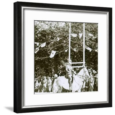 General Henri Gouraud at a victory parade, c1918-Unknown-Framed Photographic Print