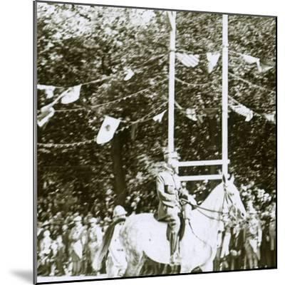 General Henri Gouraud at a victory parade, c1918-Unknown-Mounted Photographic Print
